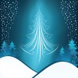 Stock Vector: Winter christmas background