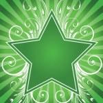 Flower star design — Stock Vector