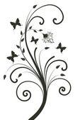 Floral design. vector illustration — Stock Vector