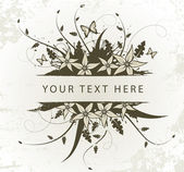 Old floral frame for text — Stock Vector