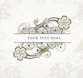 старый цветочная рамка для текста — Cтоковый вектор