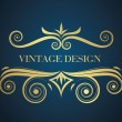 Vintage design — Stock Vector