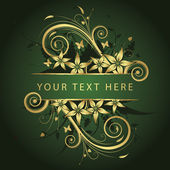 Golden frame for text — Stock Vector