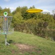 Frisbee Golf Target with Disc — Stock Photo #1535977