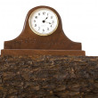 Stock Photo: Clock Sits on Top of Mantle