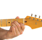 Guitar Am Chord — Stock Photo