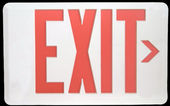 Exit Sign Isolated on Black — Stock Photo