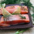 Fresh salmon fish — Stock Photo #1568870