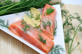 Fresh salmon fish — Stock Photo