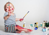 Young painter — Stock Photo