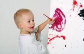 Little painter — Stock Photo