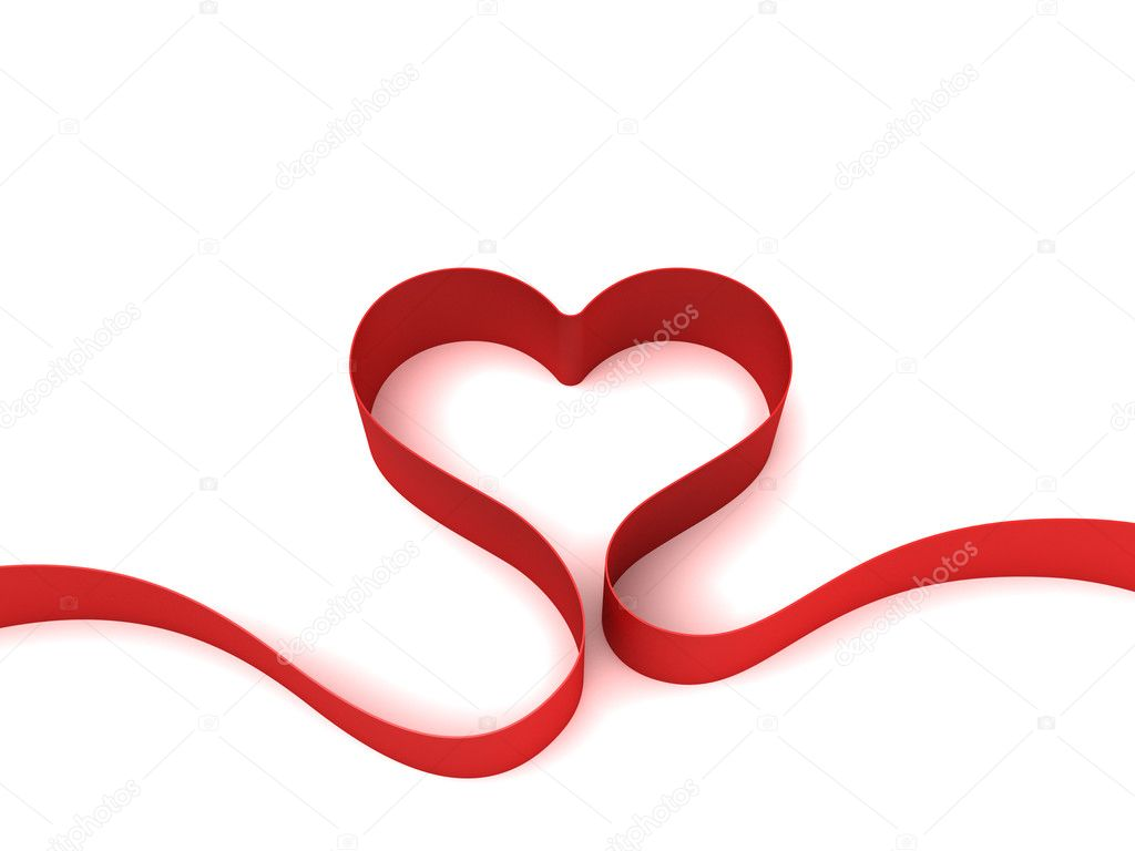 Valentine background with heart as ribbon — Stock Photo #1542642