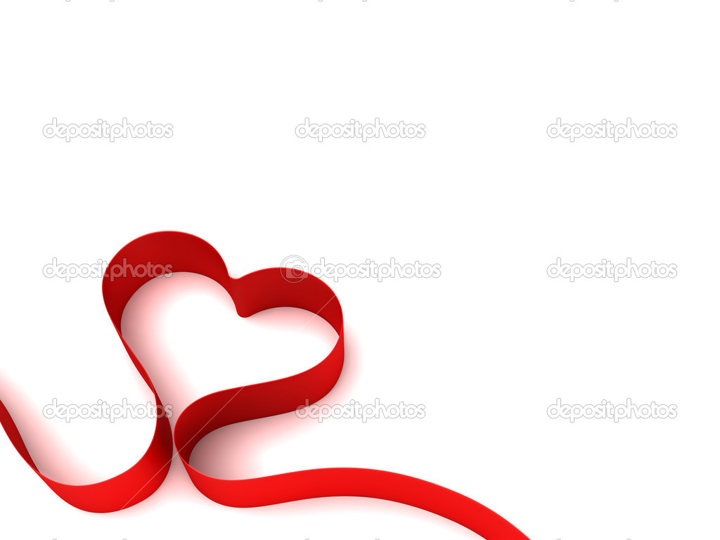 Valentine background with heart as ribbon — Stock Photo #1542651
