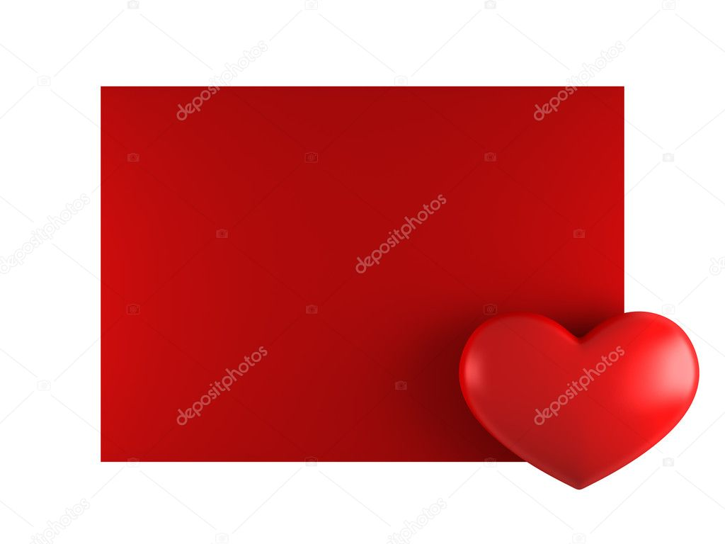 Day Valentine card with heart — Stock Photo #1543523