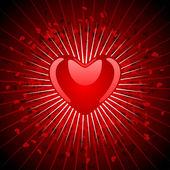 Günü sevgililer günü kartı — Stok Vektör