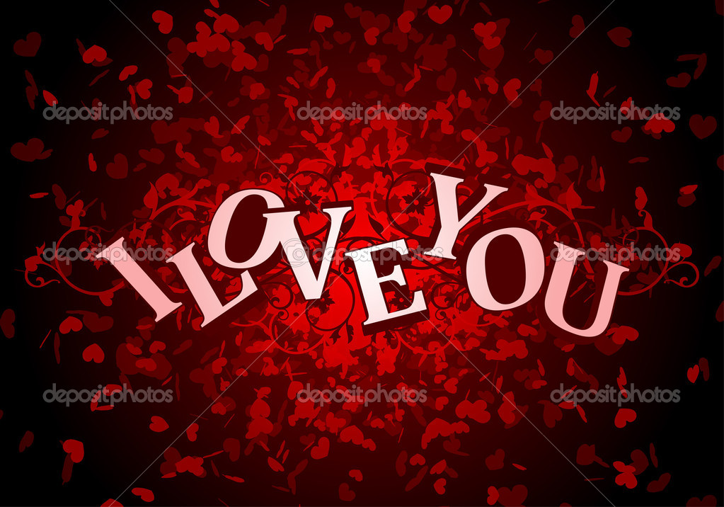 Day Valentine card i love you  — Stock Vector #1585039