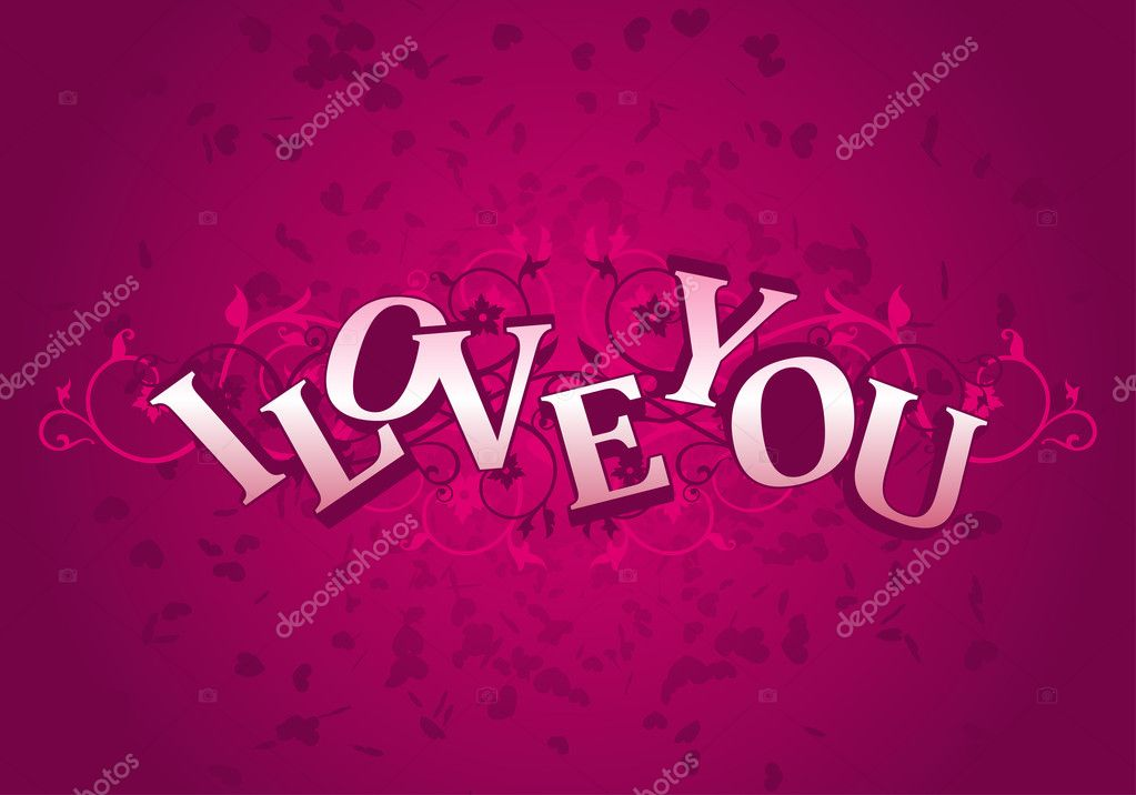 Day Valentine card i love you  — Stock vektor #1585047