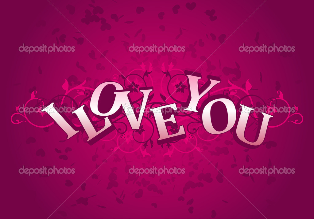 Day Valentine card i love you  — Vettoriali Stock  #1585047