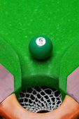 Green pool ball number 6 — Stock Photo