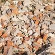 Crushed red bricks — Stock Photo