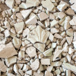 Broken gypsum decoration work — Stock Photo
