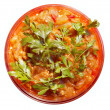Salad from stewed vegetables - Stock Photo