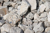 Big pieces of crushed stones — Stock Photo