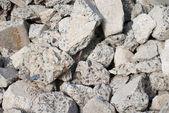 Grandes pedaços de pedras britadas — Fotografia Stock
