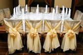 Wedding decoration of a table — Stock Photo