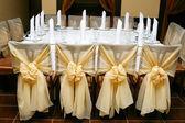Bruiloft decoratie van een tabel — Stockfoto
