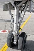 Airplane undercarriage — Stock Photo