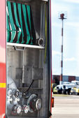 Part of fire-fighting truck — Stockfoto