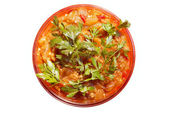 Salad from stewed vegetables — Stock Photo