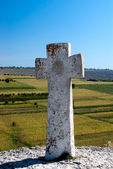 Old Christian stone cross — Stock Photo