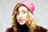 überrascht blondine — Stockfoto