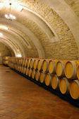 Wooden wine barrels — Stock Photo
