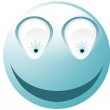 Crazy cyan smiley — Stock Photo #1553611