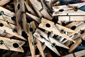 Wooden pegs — Stock Photo