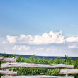 Wooden fence with sky — Stock Photo