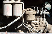 Dusty engine parts — Stock Photo