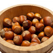 Basket with a nut a filbert - Stock Photo