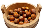 Basket with a nut a filbert — Stock Photo