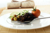 Marinated cuttlefish with olive — Stock Photo