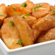 Some fried potato wedges — Stock Photo