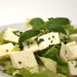 Some organic feta cheese - Stock Photo