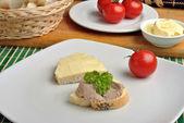 Slice poppy seed bread — Stock Photo