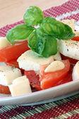 Peppered delicious mozzarella — Stock Photo