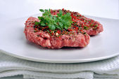 Fresh peppered lamb grill steak — Stock Photo