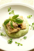 Greek sea bream fillet with potatoes — Stock Photo