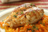 Grilled chicken with curry rice — Stock Photo